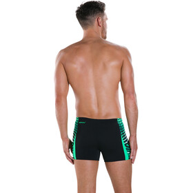 speedo Graphic Splice Aquashorts Men Black/Fake Green/White